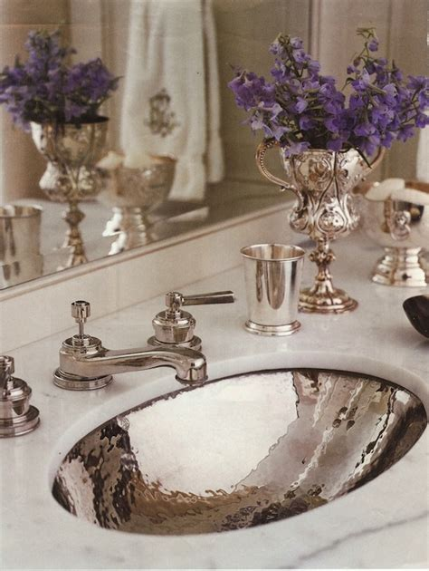 hammered silver bathroom sink hammered sink traditional bathroom circa interiors