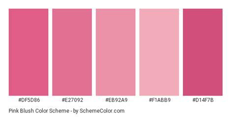 blush color code pink blush color scheme 187 pink 187 schemecolor