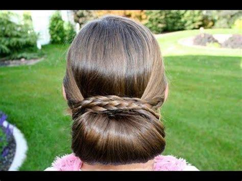 Braid Wrapped Chignon Updos Cute Girls Hairstyles | braid wrapped chignon cute updo hairstyles na pomysly