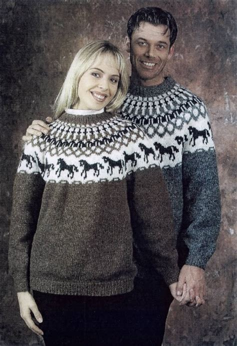 knitting pattern horse sweater sdmags icelandic sweater with horses