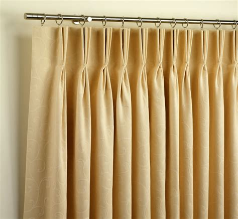 curtain rods for pinch pleated drapes the best way to choose headings for your curtains and