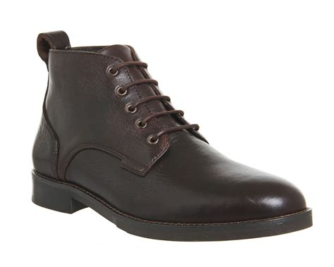 mens boots office office cage lace chukka boots in brown for lyst