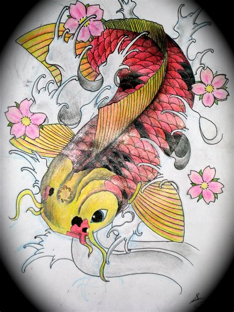 koi fish tattoo design by magicmufinelf koi tattoo design