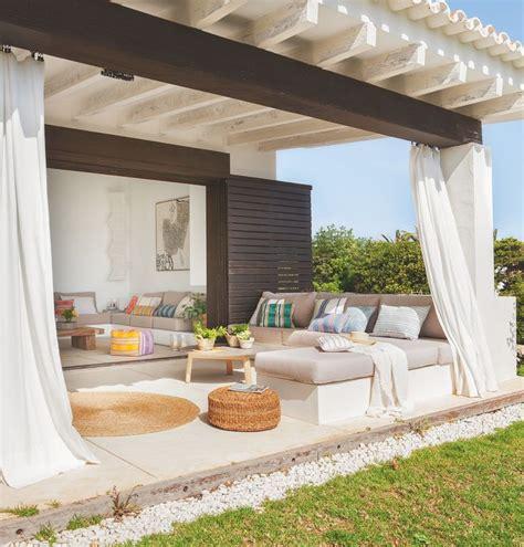 casas con porche y jardin m 225 s de 25 ideas fant 225 sticas sobre cortinas de balc 243 n en