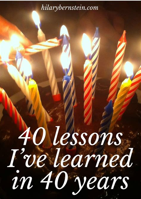 40 lessons to get turning 40 can provide a lot of perspective on life here are 40 lessons i ve learned in 40
