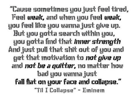eminem till i collapse lyrics motivational quotes from eminem quotesgram
