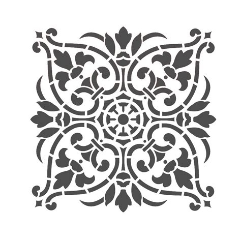 Large Wall Stencils Damask Stencil Diy Reusable Pattern Decor Faux Mural V0011 Ebay Stencil Template