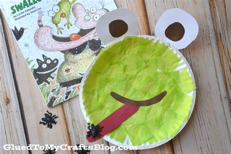 Frog With Paper - paper plate frog kid craft