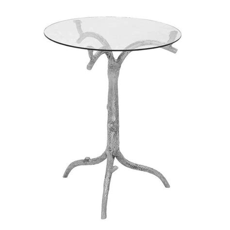 tree branch end table casa cortes nature artisan round pedestal silver end table