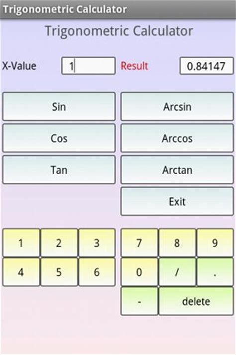 calculator arcsin trigonometric calculator android apps on google play