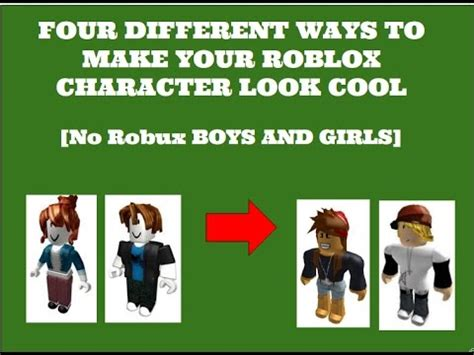 how to make a character how to make your roblox character look no robux