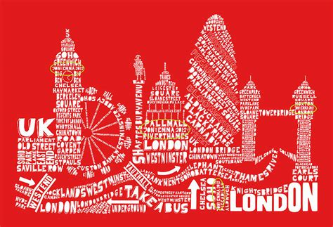 typography print skyline typography print by spdesign notonthehighstreet