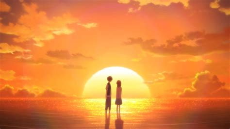 anime couple at sunset spring 2014 week 8 in review wrong every time