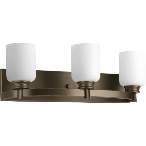 home depot vanity lights for bathroom progress lighting orbit collection antique bronze 3 light