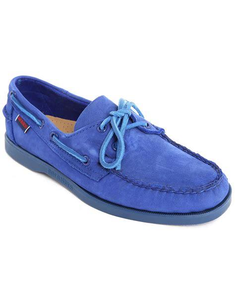 Sebago Kedge Tie Suede Original sebago dockside blue suede boat shoes with tone on tone sole in blue for lyst