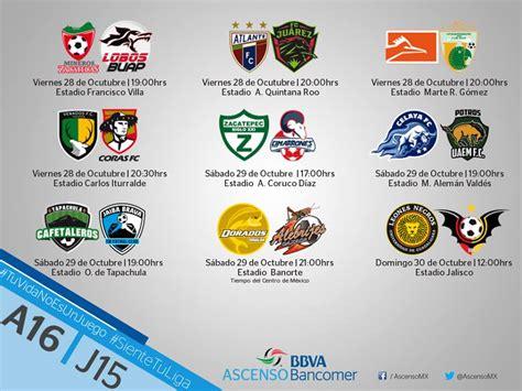 Calendario Liga Mx 2016 Dorados Ascenso Mx Torneo Apertura 2016 Calendariolaboral Mx