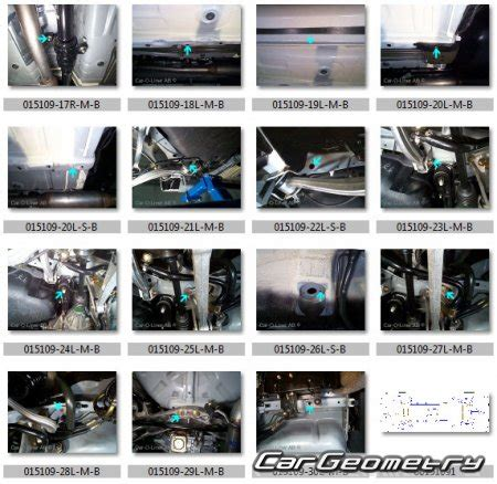 Размеры кузова Mitsubishi Lancer Evolution Vii 2001 2003