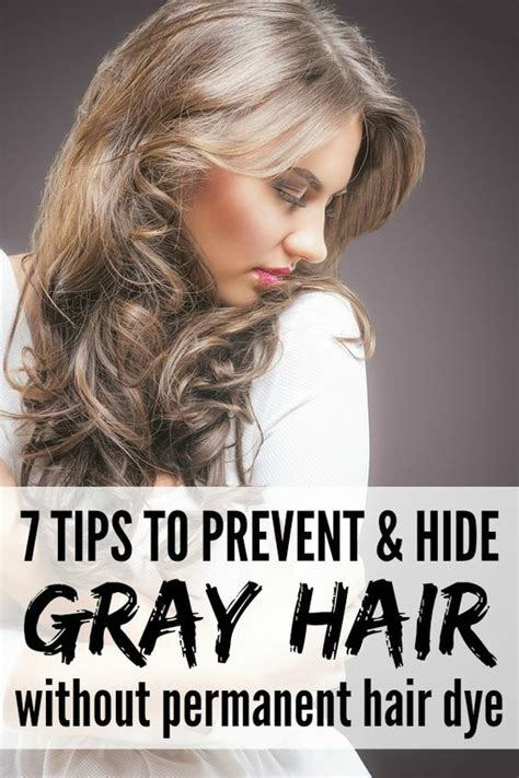 hairstyles to hide dyed tips preventing and hiding gray hair without permanent hair dye