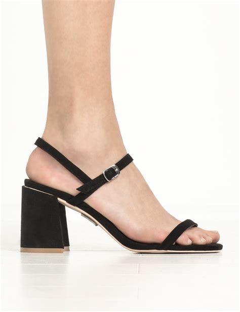 Sandal Monna Vania Import 13 shoes black strappy block heel sandal heel sandals black heels strappy black heels block
