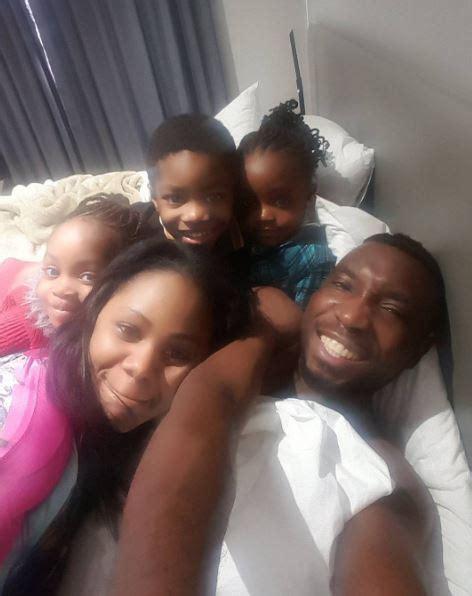 selfie bedroom timi dakolo wife 3 kids gather for lovely bedroom