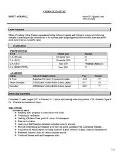 Resume Samples For Articleship Ca Articleship Resume Download