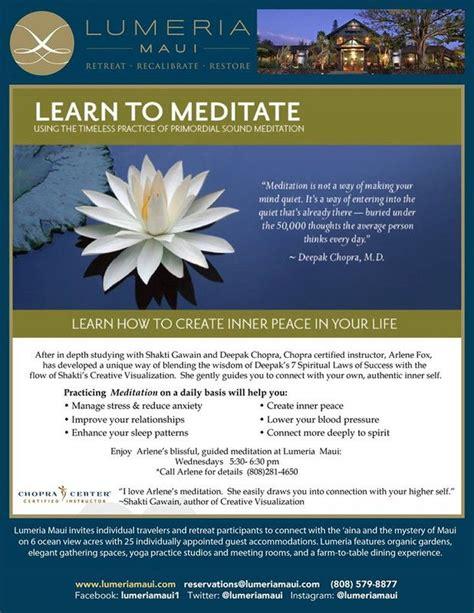 learn to meditate makawao hi introducing a new weekly class learn to