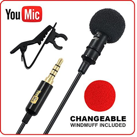 Microphone Clip On Audio System Rekording lavalier lapel microphone 173 omnidirectional mic with easy clip on system 173 for recording