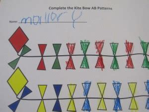 letter pattern in math making ab patterns in preschool activities abs and letter k