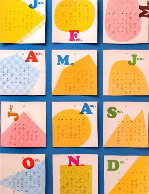 pop design uk calendar 2012 modern calendars design milk