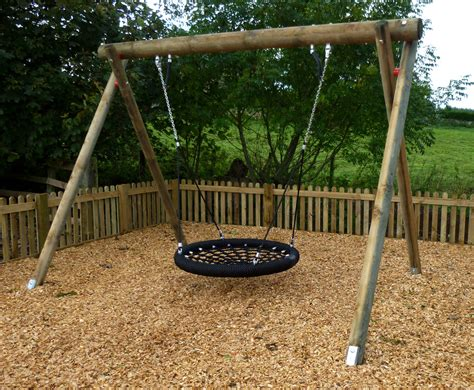 play swing wooden basket swing children s play equipment caledonia