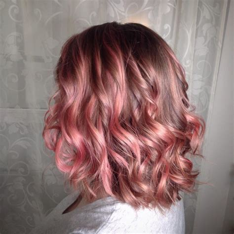 pink highlighted hair over 50 50 excellent rose gold hair ideas trendiest colors 2016 of