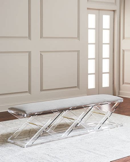 lucite x bench interlude home hedy acrylic x bench