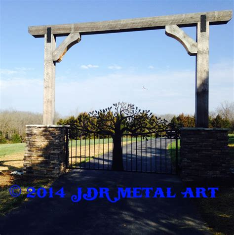 drive arch tree driveway gates designs plasma cut by jdr metal