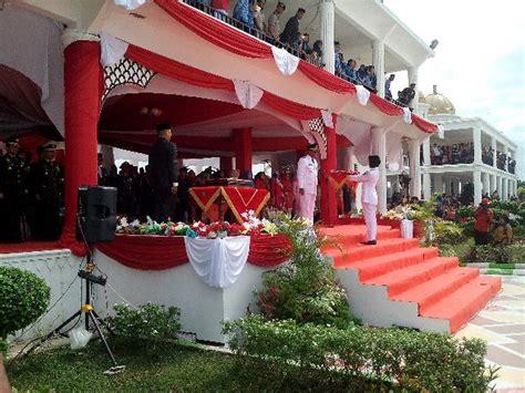 Bendera Merah Putih Bendera Pusaka bupati suyatno jadi irup hut ke 72 kemerdekaan ri di taman budaya