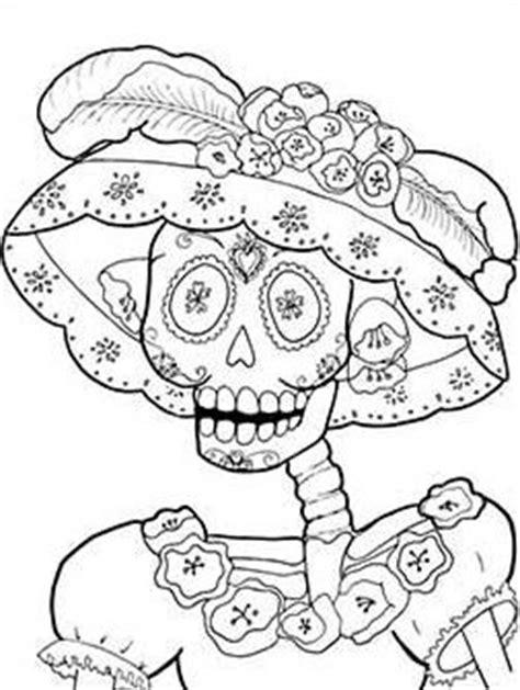 imagenes de calaveras mexicanas para colorear imagenes catrinas calaveras mexicanas colorear 1 catrinas10