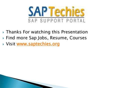 Sap Abap Resumes Saptechies by Let Us Gain More Information About Sap