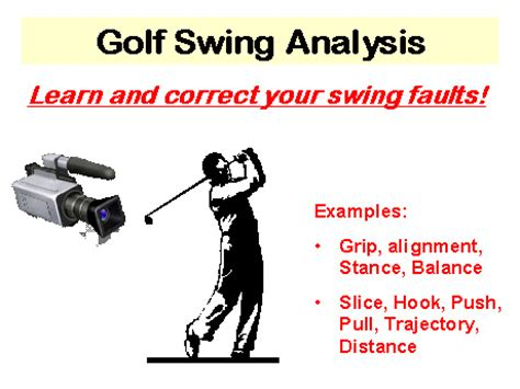 how to analyze your golf swing golf swing analysis process and information