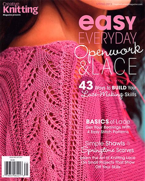 creative knitting creative knitting easy everyday openwork lace