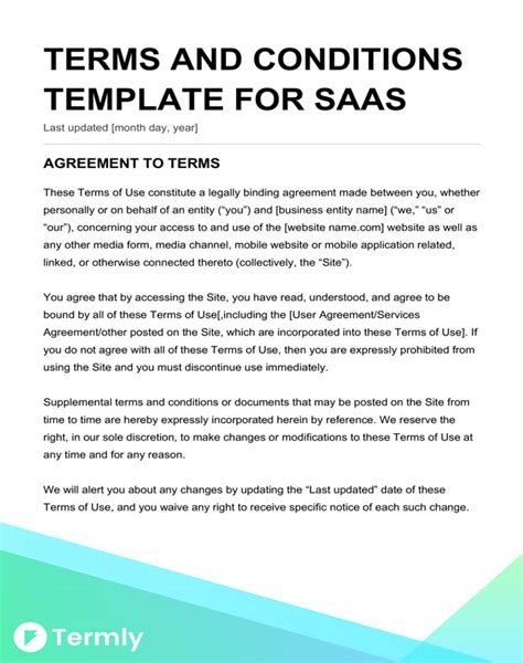 terms and conditions of service template free terms conditions templates downloadable sles
