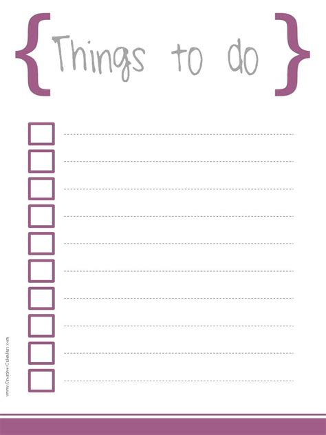 to do template free printable to do list template