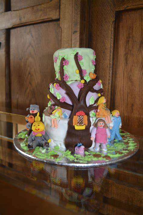 magical faraway tree birthday cake decorated   mother   daughters  birthday