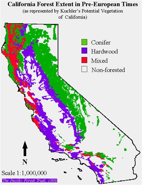 forest california map international crane foundation conservation technology