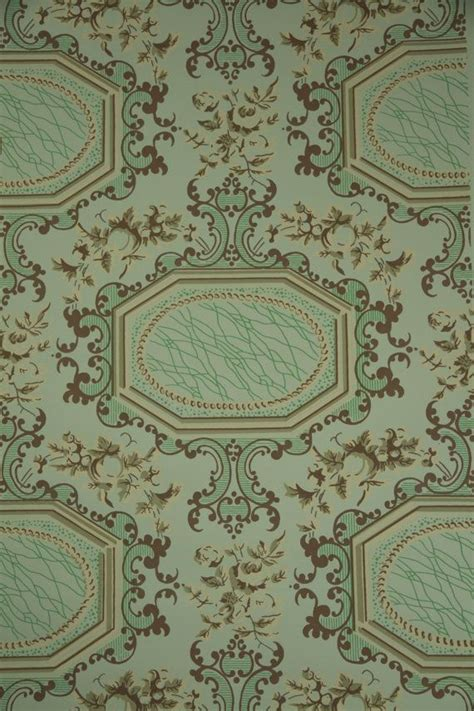 green wallpaper victorian 1950 s vintage wallpaper victorian roses and by