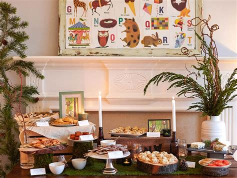 Buffet Food Ideas For Baby Shower by Whimsical Woodland Coed Baby Shower Food Buffet Baby Shower Ideas Themes