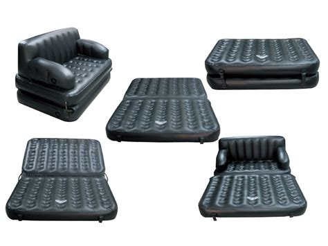 blow up sofa bed flocked 5 in 1 multifunctional double blow up inflatable