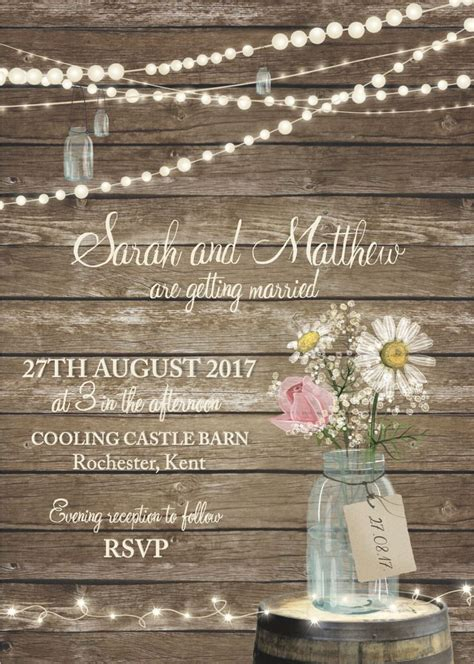 Jam Jar Wedding Invitations