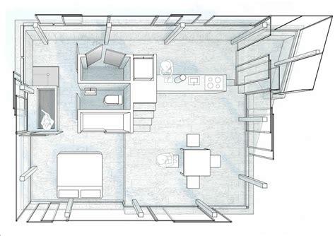 floor plan and perspective horizon house harvard graduate school of design