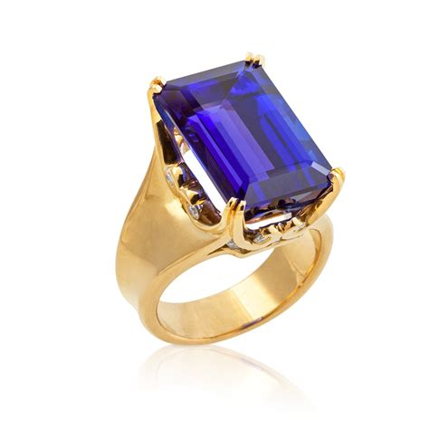 emerald cut tanzanite ring rings jewelry fairchild co