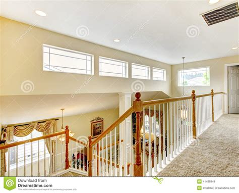 Colonial Farmhouse Plans house inteior with indoor balcony stock image image