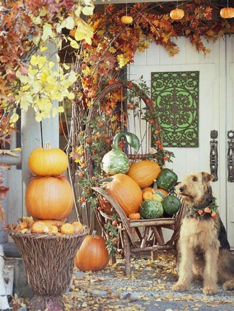 fall outdoor decorating ideas pretty autumn porch d 233 cor ideas modern world furnishing